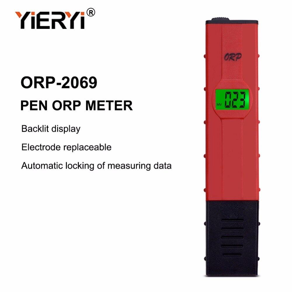 Yieryi 100% nueva marca ORP-2069 LCD Digital tipo de pluma roja PH probador de la cantidad de agua de la piscina de ORP.