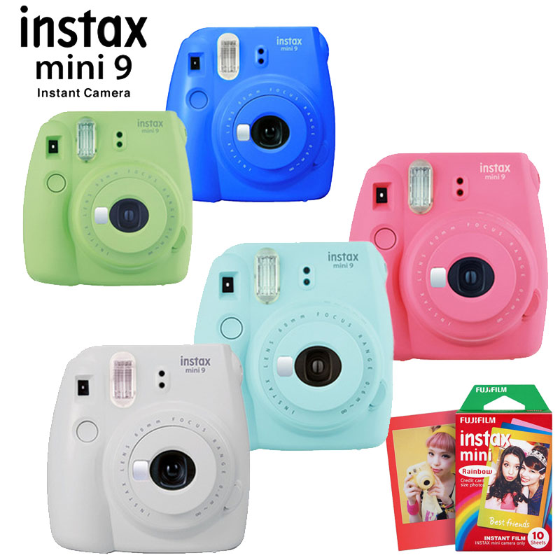 For Fujifilm Instax Mini 9 Instant Photo Film Camera With 10 Sheets Cameras Photos Prints Paper