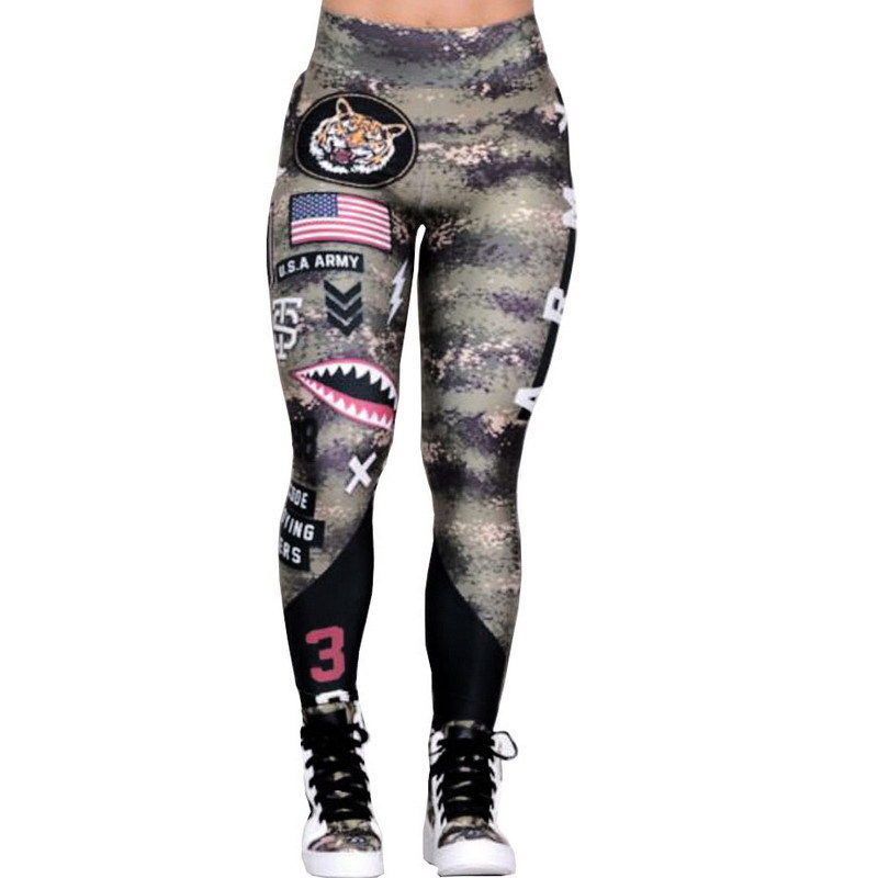 New Fashion athleisure Camouflage Printing Elasticity Leggings Camouflage Fitness Pants Gym Legins Casual Milk Legging For Women in Leggings from Women 39 s Clothing