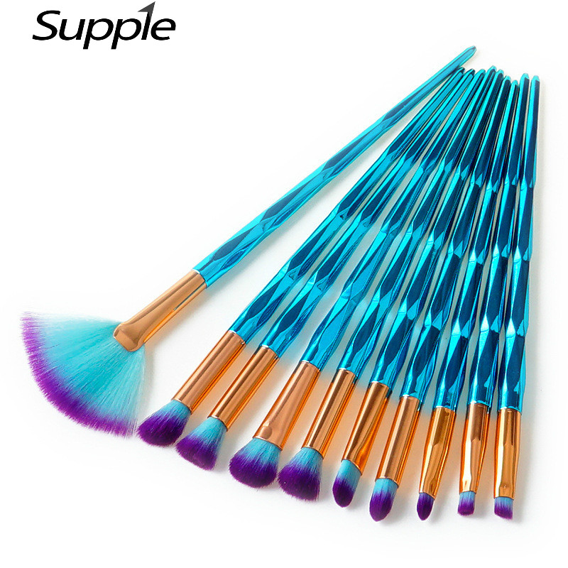 4/7/10Pcs Eyeshadow Brushes Makeup Brushes Set Rhinestone Tools Powder Foundation Eye Lip Concealer Face Brush Kit