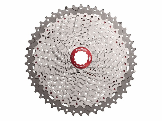 MTB 11s 46T/50T SUNRACE CSMX8 11T-46T Mountain Bicycle Bike Cassette 11 Speed Wide Ratio Silver CSMX80 11-50T freewheel