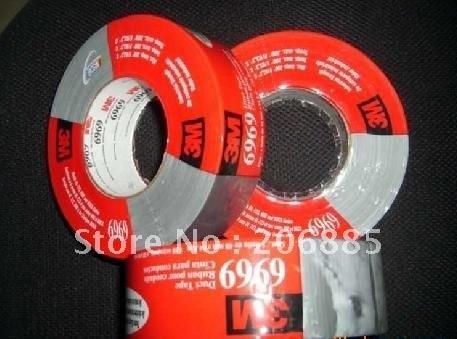 Гарантия 3 м 6969 полиэтилен Липкая лента/черный и серебряный цвет/48 мм* 54,8 м