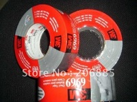 100 Original Guarantee 3M 6969 Polyethylene Coated Tape Black And Silver Color 48mm 54 8M