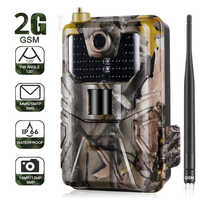 Cámara de seguimiento de la vida silvestre 20MP 1080 P trampa de fotos visión nocturna 2G SMS MMS SMTP Correo electrónico cámaras de caza celulares HC900M de vigilancia
