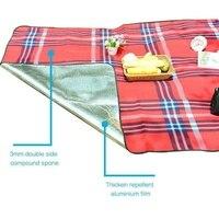 Portable Waterproof Outdoor Camping Mat Camping Mattress Tarpaulin Sandbeach Picnic Barbecue Beach Mat Blanket For Picnic Travel