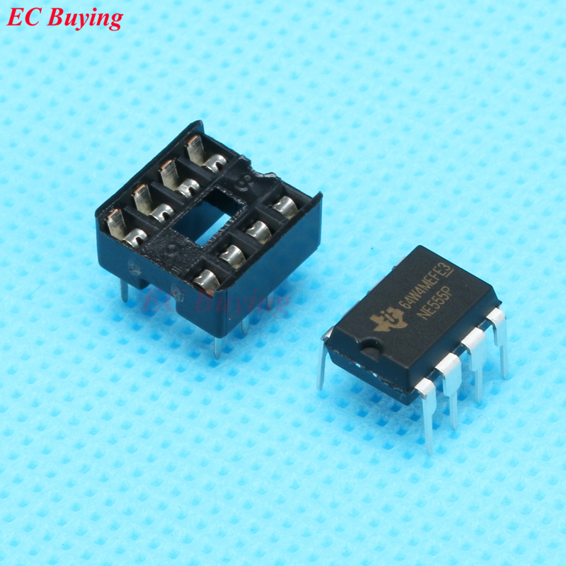 5Pcs  NE555P NE555 NE555N DIP-8 Single 8 Pin Bipolar Timer IC
