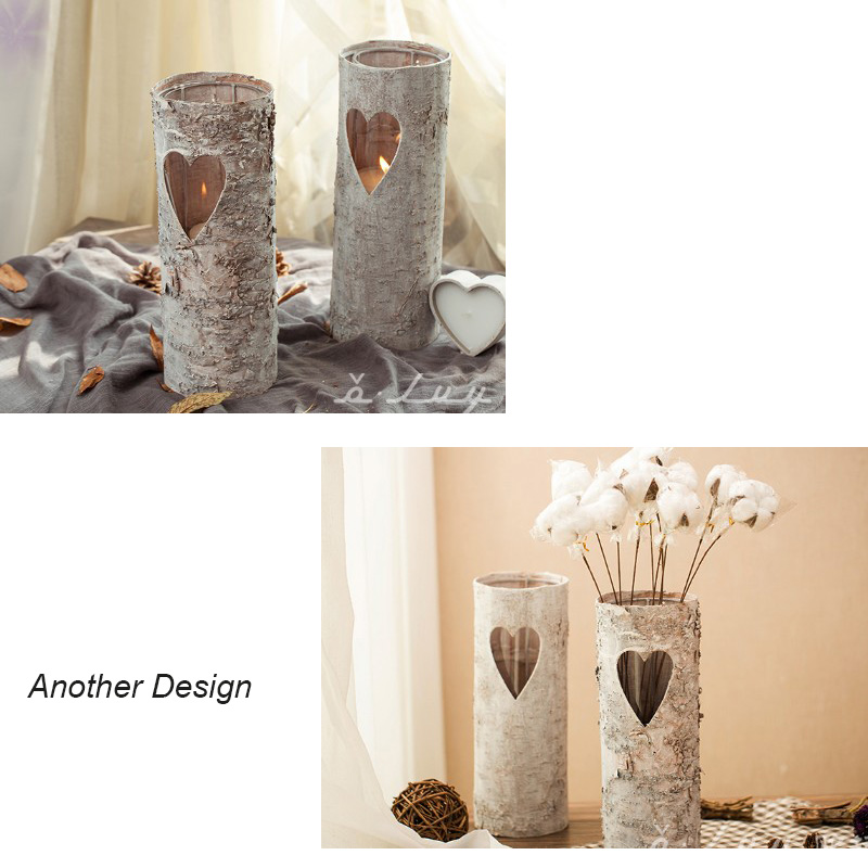 The Birch Tree Skin Flower Pots Planters Desktop Vase Candle Holder