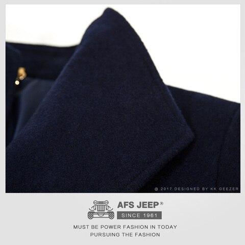 Mens Coat Winter Wool Coat Cashmere Long Jackets Section Woolen Trench Coat Blends Fashion Duffle Overcoats Mandarin Business Lahore
