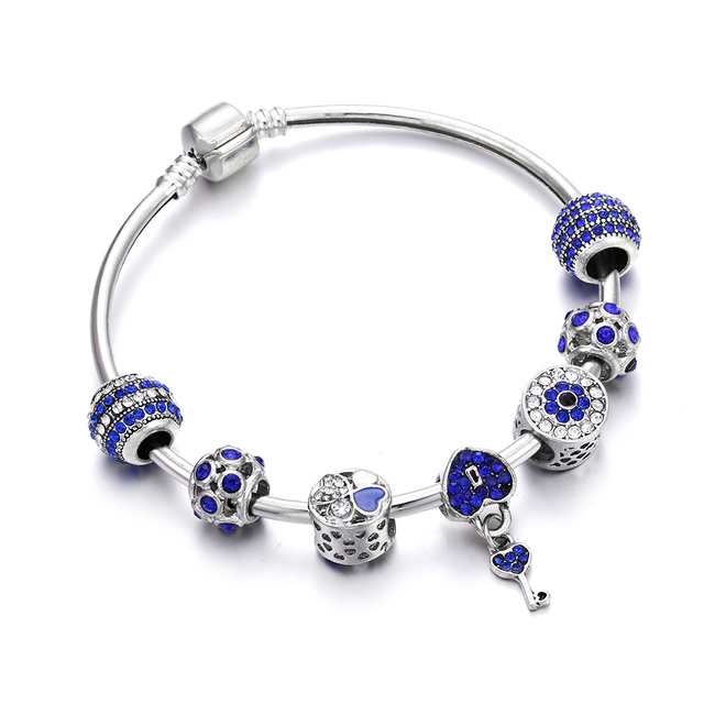 Trendy Silver Color Charm...