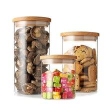 Caixa de armazenamento de vidro de alta qualidade chá recipientes de alimentos frascos garrafas spice vácuo caps açúcar boxe vedação preservação alimentos