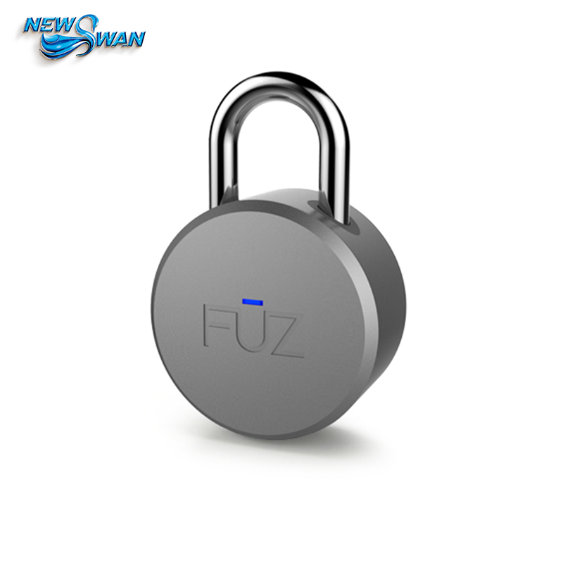 Fuz Nokia Bluetooth Smart Padlock The Phone automatically Unlocks The Keyless Smart lock key padlock types 2016 orange manual and automatic bluetooth smart window lock bicycle lock luggage lock stainless steel padlock hot sale