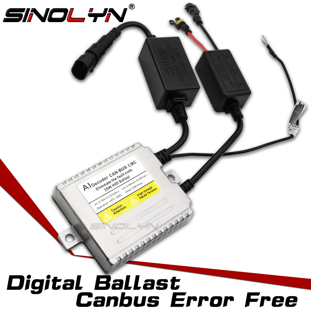 Sinolyn New 9-16V AC 35W Premium Canbus Error Free Digital Slim Ballast Replacement Reactor Block ignition For Xenon HID LampsSinolyn New 9-16V AC 35W Premium Canbus Error Free Digital Slim Ballast Replacement Reactor Block ignition For Xenon HID Lamps