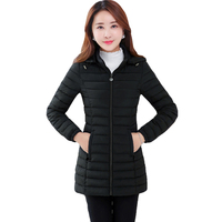 2017 New Brand Clothing Women Autumn Winter Parka Womens Long Jacket With Hat Warm Coat Cotton