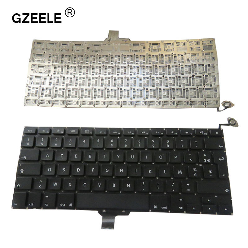 GZEELE New French Laptop Keyboard 2009-2012 For Apple Macbook Pro A1278 MC700 MC724 MD313 MD314 FR Keyboard Replacement BLACKGZEELE New French Laptop Keyboard 2009-2012 For Apple Macbook Pro A1278 MC700 MC724 MD313 MD314 FR Keyboard Replacement BLACK