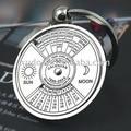 1 pc presente Criativo calendário Perpétuo chaveiro de Metal chave anel chave da cadeia de 5127