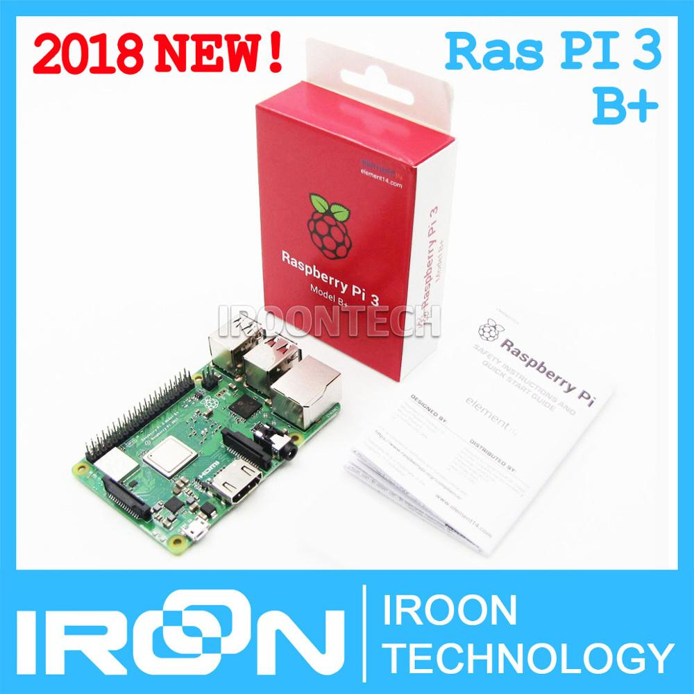 US $41 98 |Element14 Version: 2018 New Original Raspberry Pi 3 Model B+Plus  BCM2837B0 1GB SDRAM on board WiFi/Bluetooth PI 3B+PI3 B+Plus -in Demo