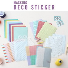 24 sheets/1set kawaii masking deco paper planner stickers Seeso cute Korea Stationery/sticky notes/filofax/Decoration Label