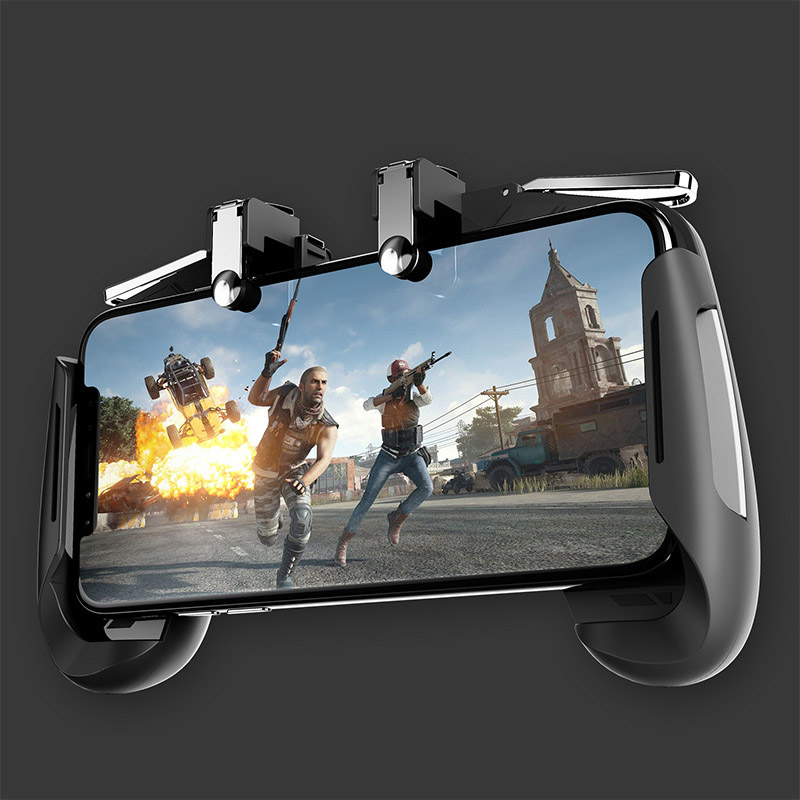 Image 4 - AK16 Metal Smart Phone Mobile Gaming Trigger For PUBG Controller Gamepad  L1R1 Button Aim Shooter Joystick Game Pad-in Gamepads from Consumer Electronics