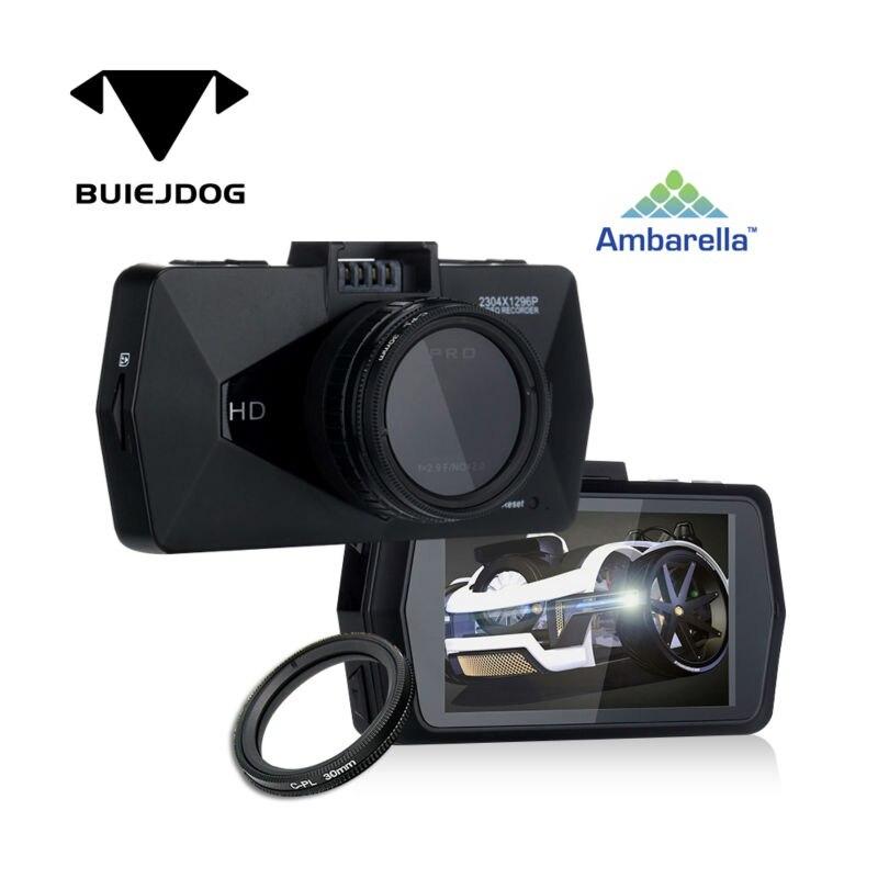 BUIEJDOG Ambarella A7 Full HD 1296P Car DVR Dash Camera ...