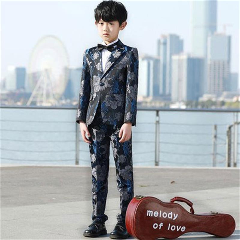Высокое качество детских Пиджаки для женщин Костюмы покупкой От 3 до 14 лет мальчик Комплекты одежды пальто + брюки + Вязаные Жилеты для женщи