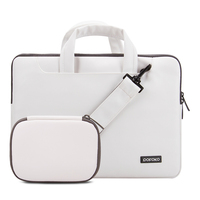POFOKO Laptop Bag Handbag With Storage Bag 11 13 15 Notebook Bag Waterproof PU Leather Laptop