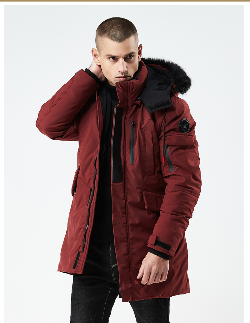 High Quality Thick Warm Men Winter Puffer Jacket Europe Fur Hooded Long Canada Parka Coat Male Military Bomber Army Parka