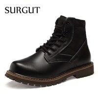 SURGUT Men Boots 2018 Brand Autumn Winter Breathable Fashion Lovers Casual Shoes Men Lace Up Suede