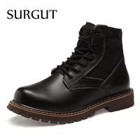 SURGUT Men Boots 2018 Brand Autumn Winter Breathable Fashion Lovers Casual Shoes Men Lace Up Suede