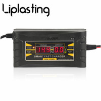Liplasting 12V 10A Smart Car Motorcycle Battery Charger LCD Display EU US