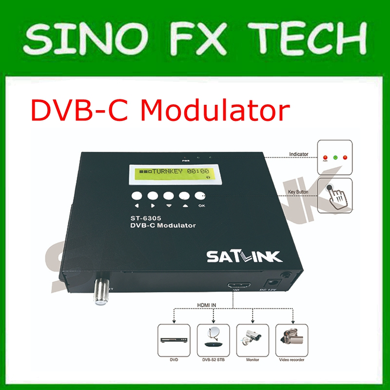 DVB-C modulator integrate mpeg-2 encoding and modulating to convert hd signal to dvb-c rf out for home hotel shop цены