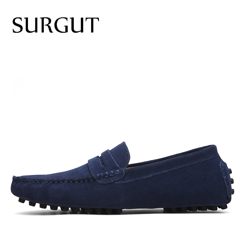 SUGRUT Brand Summer High Quality Soft Flat Shoes Male Casual Driving Shoes Slip On Lazy Men Flats Moccasins Loafers Size 38~50 2