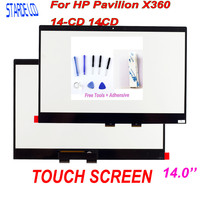 Starde Lcd 14'' Touch Digitizer For HP Pavilion X360 14 CD 14CD Series Laptops Touch Screen Replacemnt Panel