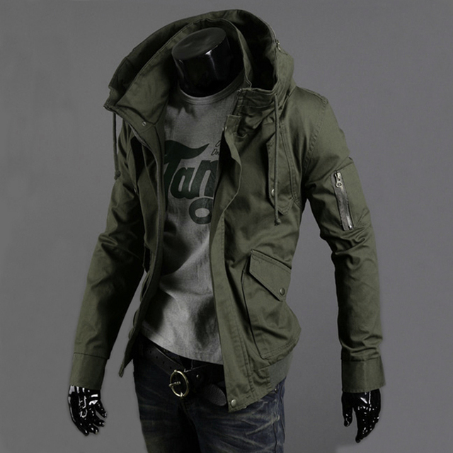 d11938c90c4 2015 spring and summer military jacket male slim popular men s clothing  casual outerwear Army Green thin top trend