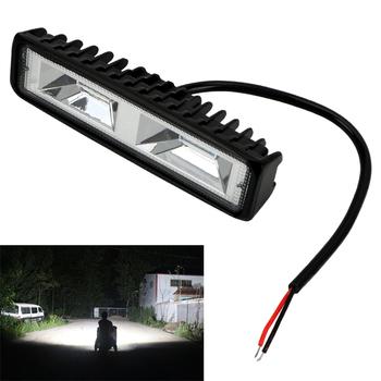 LEEPEE reflektory LED 12-24V dla Auto motocykl ciężarówka łódź przyczepa do ciągnika Offroad lampa do pracy 36W LED światło robocze reflektor tanie i dobre opinie 6500 k Praca Lekka Bliski spot IP67 -45~85 degree 20022