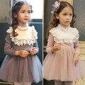 Vestido de criança Para Meninas Roupas de Inverno 2017 de Moda de Nova Vestidos de Casamento Do Bebê Da Menina Para Crianças Terno Do Corpo Roupas de Design