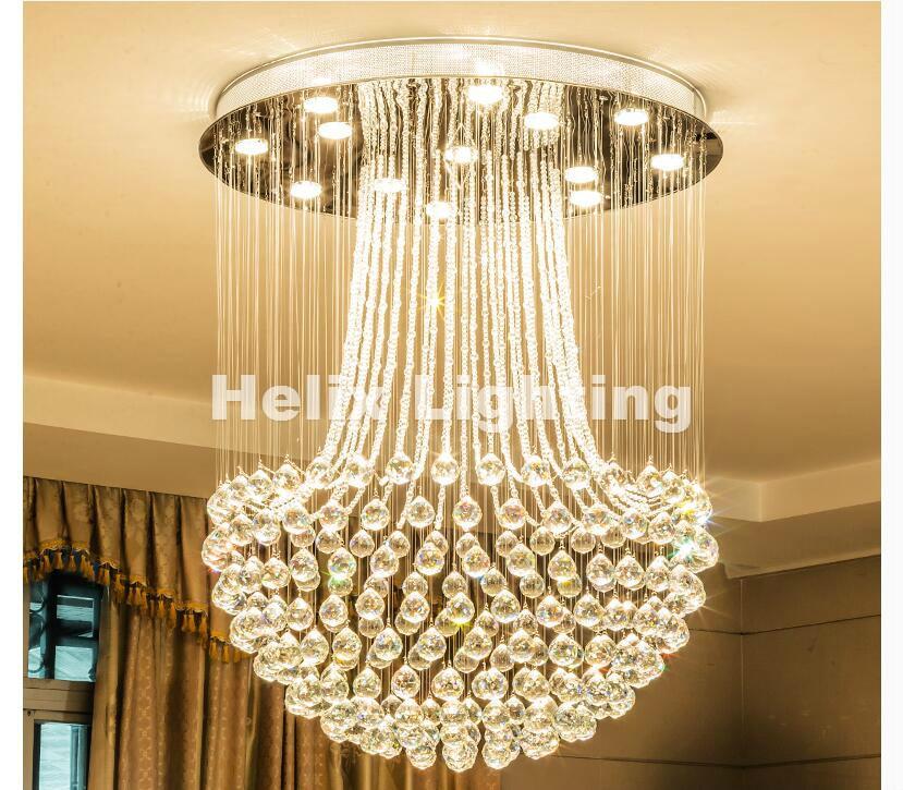 Free Shipping Modern LED Ceiling Lights For Living Room Art Crystal Celling Lamps Rectangular Oval Dining Room Bedroom Lighting