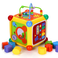 Baby Phone Toy Electronic Sound Music Early Educational Learning Toys Building Blocks Shape Matching Plastic Piano Table Games