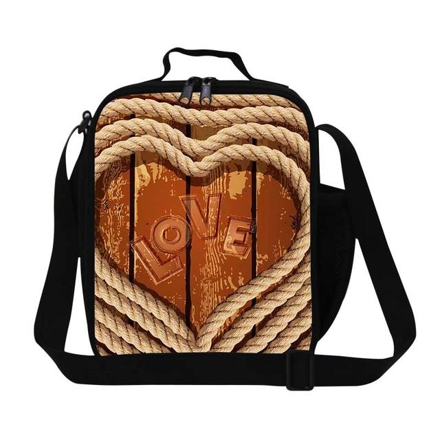 Saco do almoço para meninas em forma de coração amor impressão dispalang isolado lunch box crianças escritório senhoras saco térmico do almoço saco de comida