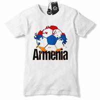 Armenia Football Shirt Հավաքական T Shirt Armenian Red Jersey Top Mens Boys B40
