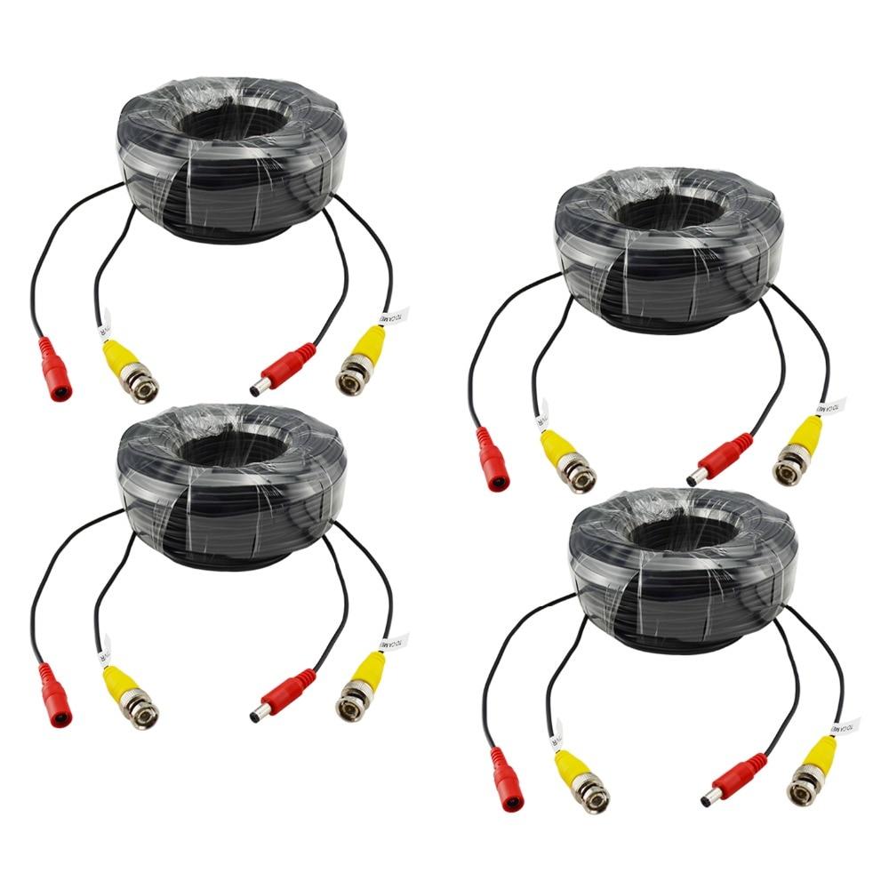 bilder für ANNKE 4 X 100ft 30 Mt Überwachungskamera Video Power Kabel BNC RCA Draht für DVR in CCTV-system