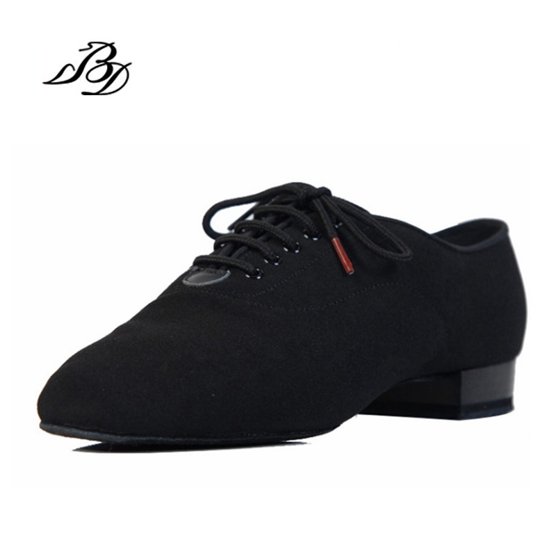 Sneakers BD Dance Shoes Men Shoes Square dance Social Ballroom Latin shoes 309 Black 317 Modern shoe Hot Oxford Cloth Heel 25mm(China)