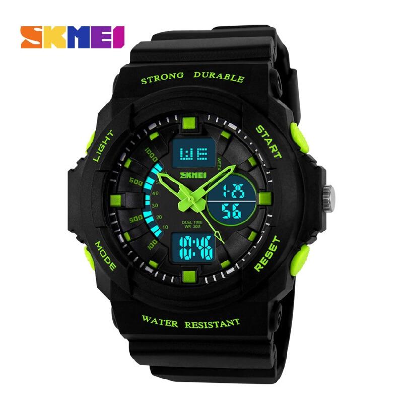 Skmei Men Sports Watch Military LED Wristwatches Digital And Analog Multifunctional Fashion Quartz Watches 2019 New 0955