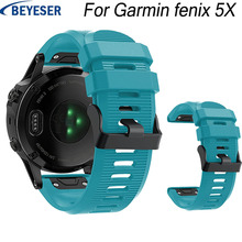26MM Wrist strap for Garmin Fenix 5X Plus silicone band For Garmin Fenix 3 HR Sport Replacement Quick release Easy Fit watchband цены