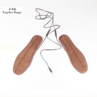 USB Charged Electric Shoe Insole Soft And Warm Women Men Shoe Fur Foot Pads 1 Pair