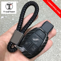 for Mercedes For BenzCar Key Case Shell Carbon Fiber W204 W205 W212 A B C S E Class Keyrings Holders Accessories Car Styling