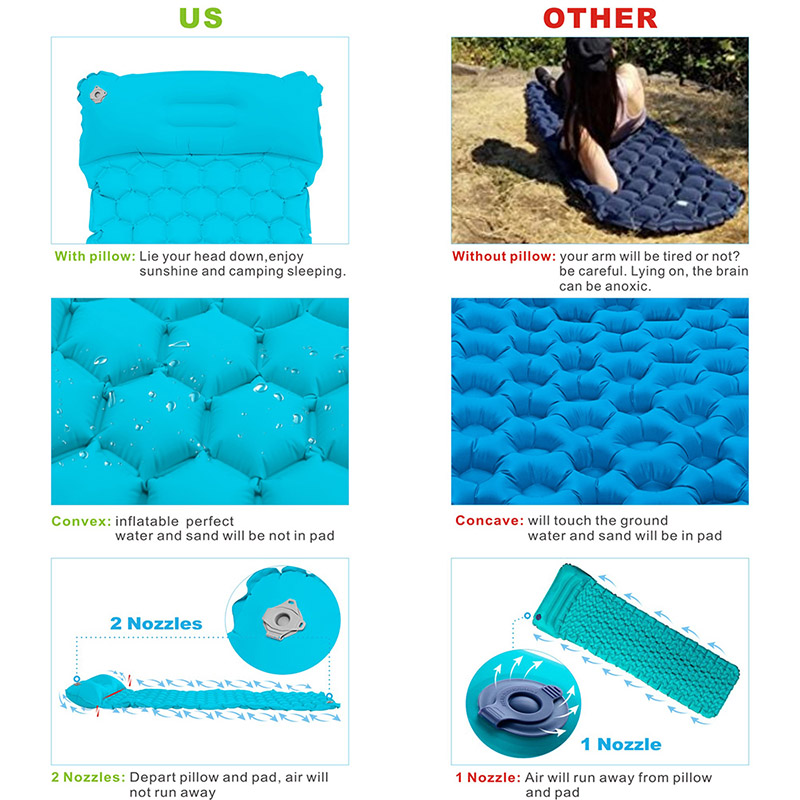 Inflatable sleeping pad  800x800