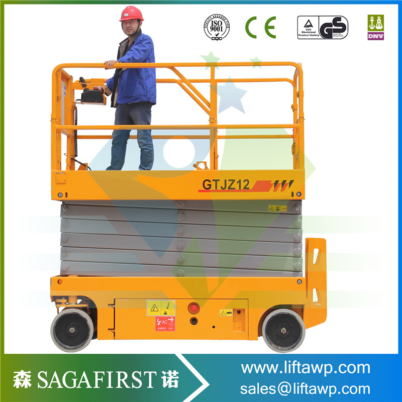 2018 China Mobile Scissor Lifts Self Propelled With Battery Power For Hot Sales
