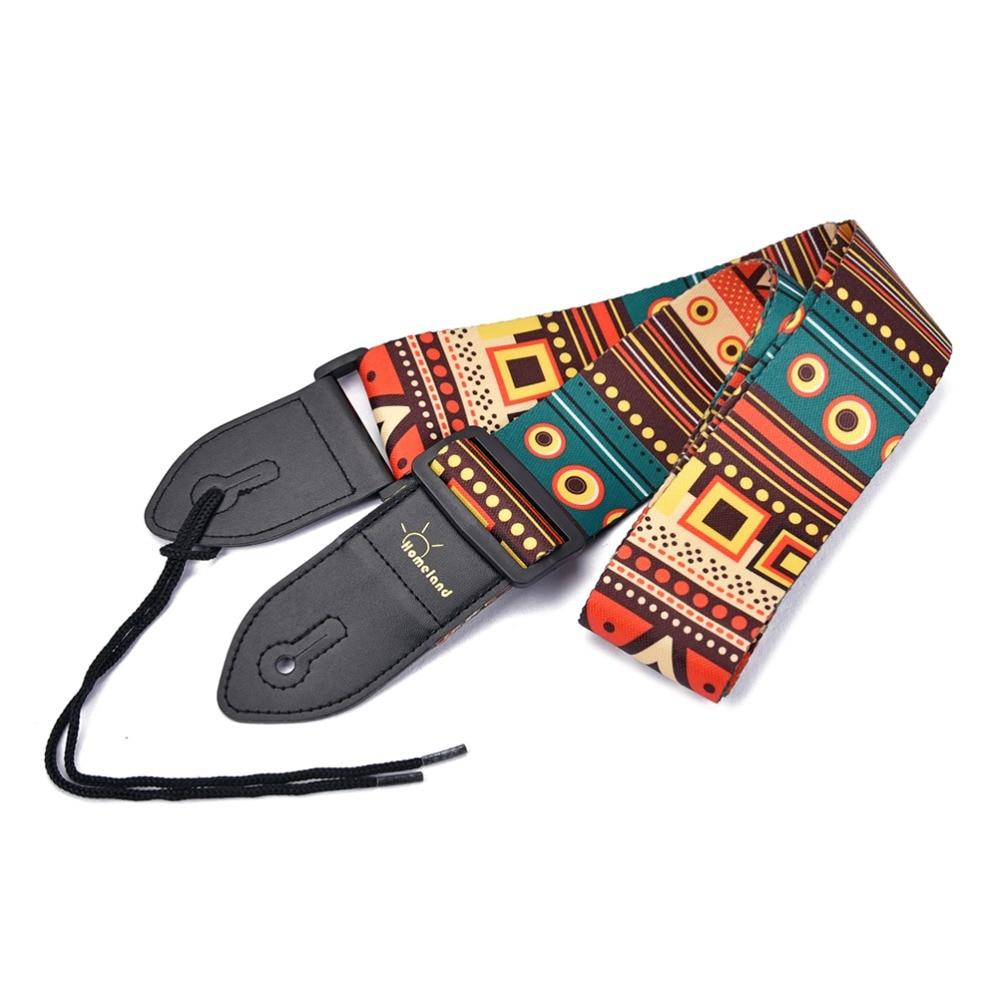 1 pcs ethnic pattern ukulele guitar strap comfortable vintage length adjustable nylon strap for. Black Bedroom Furniture Sets. Home Design Ideas
