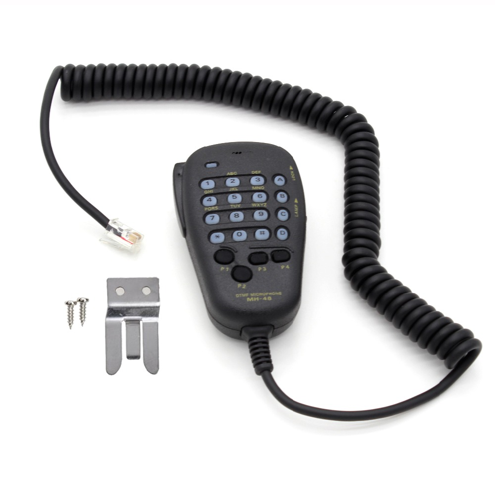 Mh 48 Car Radio Mic 6 Pin Dtmf Microphone Speaker 48a6j For Yaesu Wiring Stereo Two Speakers Mobile Ft 7800r 8800r 8900r 7900r Xqf In Walkie Talkie From Cellphones