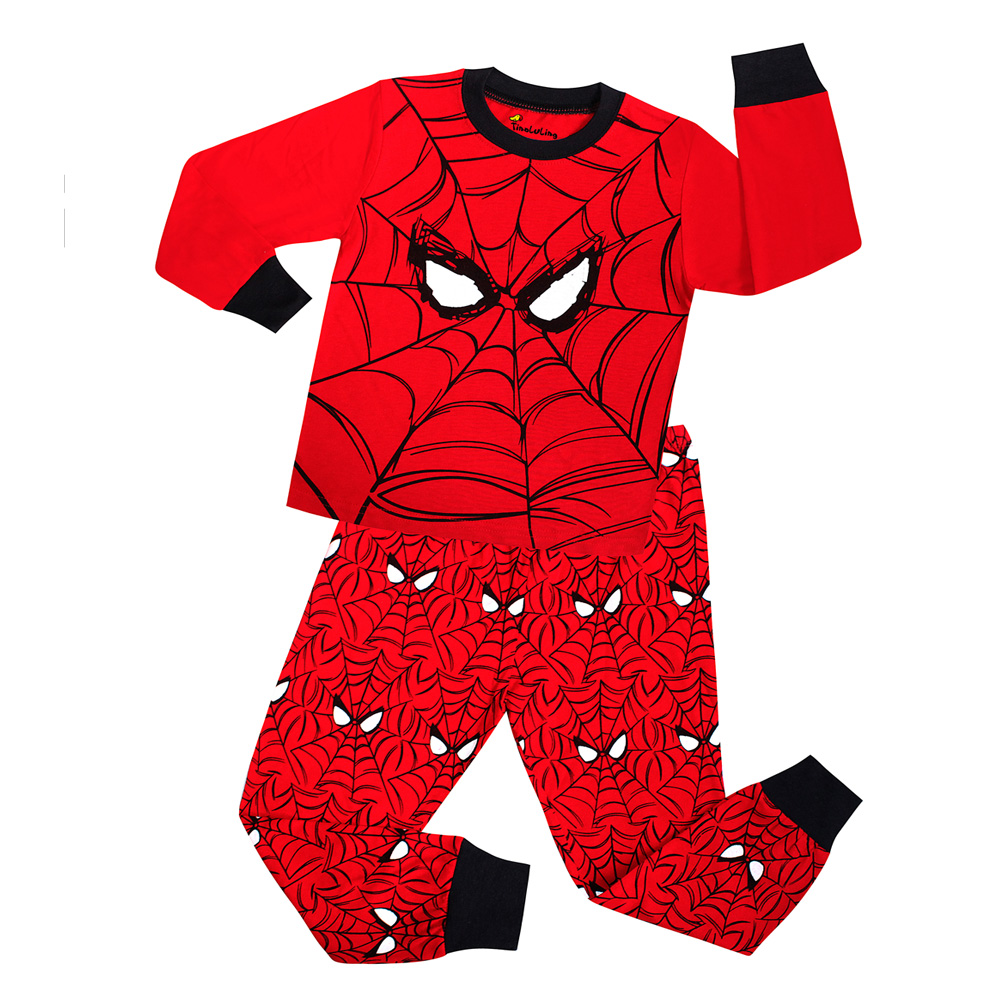 fba64d568c6d Dropwow 22 Design Boys Spiderman Pajamas Sets Kids Superman ...